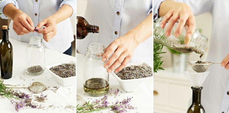 """Lavendel – die einen denken bei diesem Wort an ein wogendes Blütenmeer in der Provence, die anderen an das Wäschesäckchen ihrer Oma. Aber alle erinnern den gleichen Duft. Er bewirkt, dass unser Gehirn vermehrt das Glückshormon. Serotonin ausschüttet, dass wir uns entspannen und die """"Alles-Mist""""-Stimmung ganz einfach verduftet."""