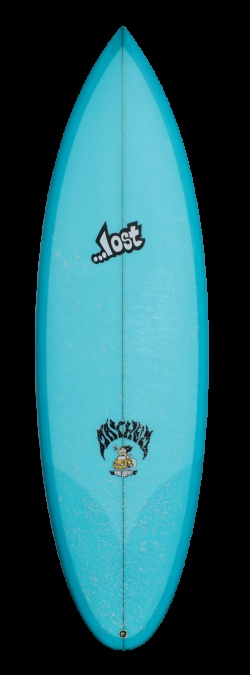 "Lost Surfboards: Mini Driver. Part tube rider part groveller. A 5 fin set up would be nice. 5'8"" x 19.00"" x 2.32"" (26.4 Litres) or maybe 5'9"" x 19.25"" x 2.32"" (27.2 Litres)"