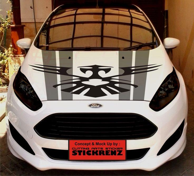 Car Custom Hood Cutting Sticker Concept - Fiesta 006