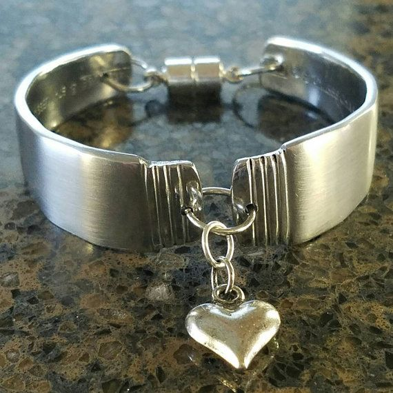 Very beautiful spoon bracelet. Brushed finish with polished