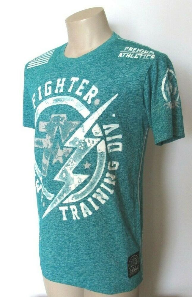 purchase cheap c1bd1 3a208 Men s Size S American Fighter by Affliction Turquoise White T-Shirt   fashion  clothing  shoes  accessories  mensclothing  shirts (ebay link)