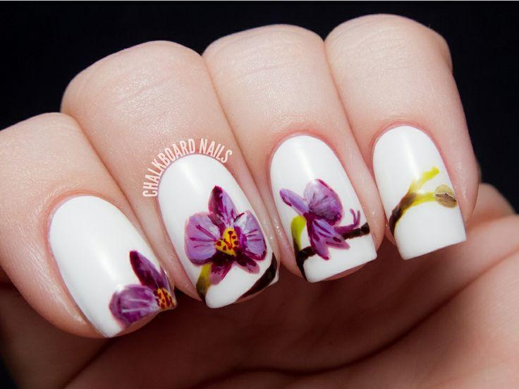 Orquid nail art