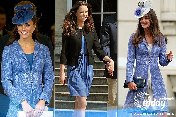 At a service to mark the 90th borthday of the Queen's husband, Prince Phillip, Kate wore her favourite periwinkle blue Jacquard coat dress that she wore to another close friend's wedding back in 2009. The stylish future Queen merely swapped the dress underneath to her high street Zara dress that she wore the day after getting married. (Getty Images)