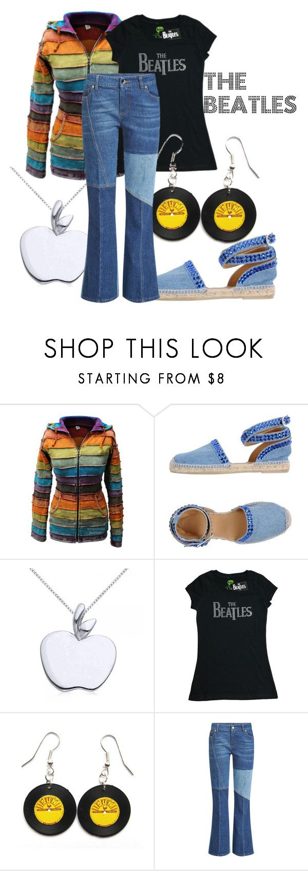 """""""The Beatles - Band T-Shirt"""" by one-little-spark ❤ liked on Polyvore featuring Philipp Plein, Allurez, Alexander McQueen, Beatles and bandtees"""