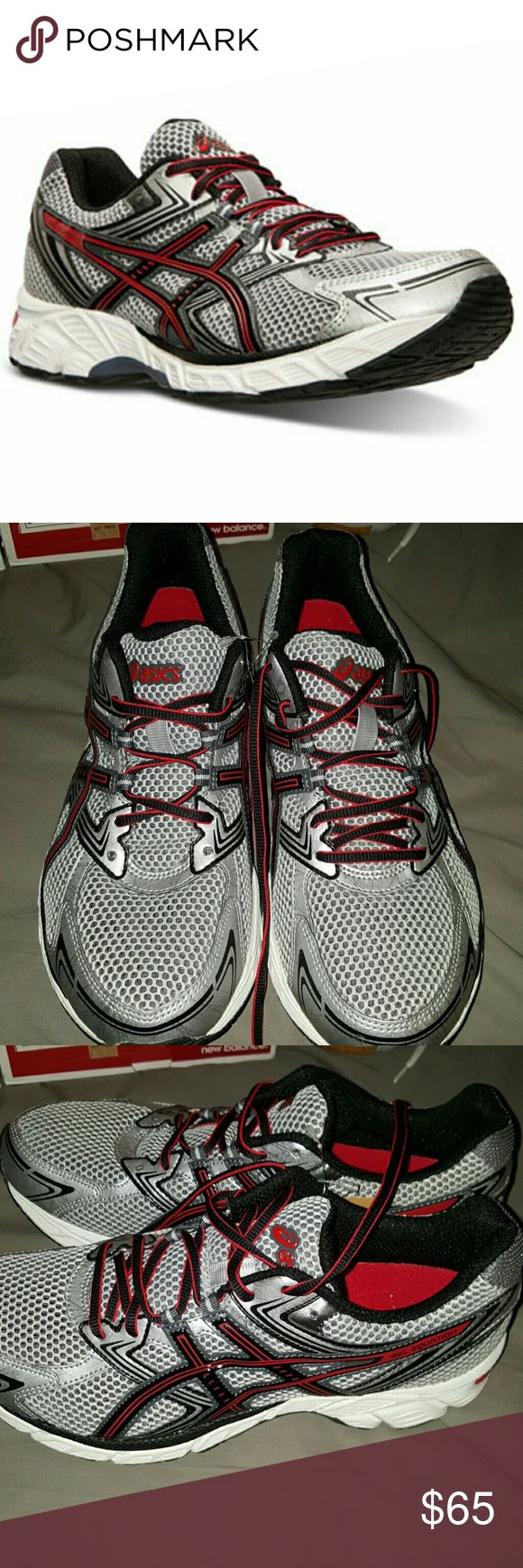 ASICS Gel-Equation 7 Neutral Running Shoe Wide New but without box     Neutral running     - Round toe     - Mesh upper     - Lace-up closure     - GEL Cushioning System insole     - Padded tongue and collar     - Grip sole     - Imported Materials     Synthetic upper, rubber sole Asics Shoes Athletic Shoes