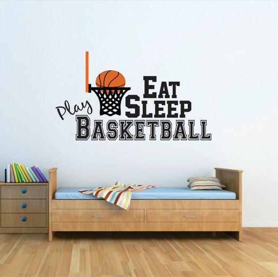 Basketball Wall Decal Basketball Nursery Decal Basketball