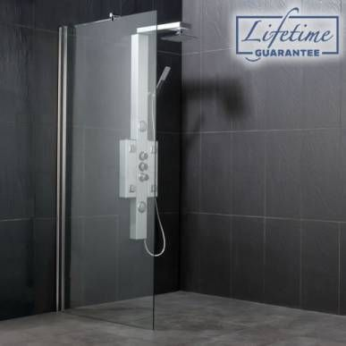 Wet room shower screen sizes 700mm 1400mm from showers for Wet room shower screen 400mm