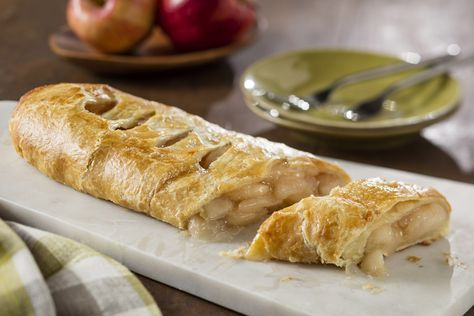 When you pull this warm strudel from the oven, everyone will think it took hours to prepare. Not true, because this recipe uses puff pastry sheets and canned pie filling. Comments