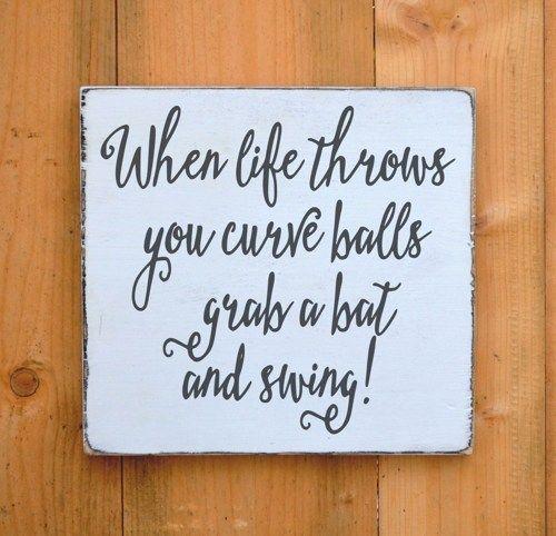 baseball quotes for weddings | Softball Baseball Wood Sign Rustic Sports Theme Room Decor Boy Ball ...