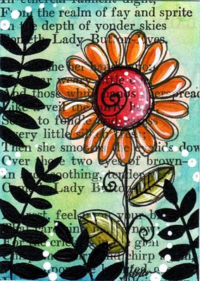 great way to create new art. simply taking old pages from books! love this!