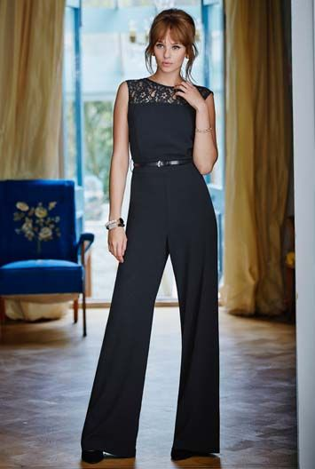 Lace Panel Jump Suit at Long Tall Sally, your number one address for tall women's clothing #tallgirls #tallfashion #tallwomen