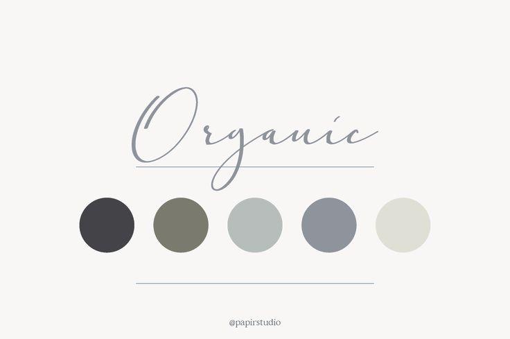 Organic color palette  // natural, hues, minimal, blue, grey,