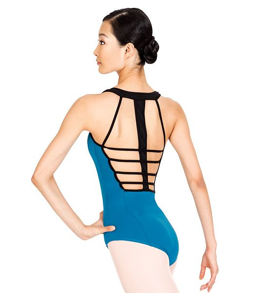 Natalie Adult Two-Tone Tank Leotard  (I like the Black/Turquoise color the best)