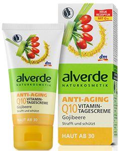 Alverde Vitamin Bőrfeszesítő Nappali Arckrém Q10 és Goji Bogyó Kivonattal