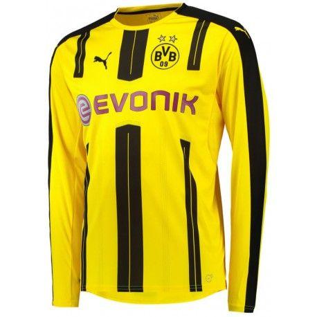 Maillot Dortmund 2016/2017 Domicile Manches Longues Officiel Domicile. Flocages Personnalisés Disponibles.