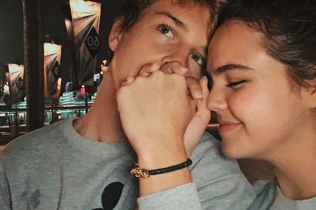 Bailee Madison (17, actress known for Bridge to Terabithia, Wizards of Waverly Place, Just Go With It, Good Witch) and Alex Lange (15, model) started dating this year and since then we've been blessed with countless cute stories and photos. Here's to #Bailex never ending.