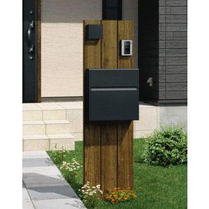 機能門柱・ポール コレット3型 組合せB  ポスト・LED照明付 三協アルミ