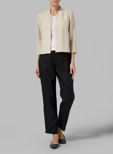 Linen Crop Blazer vivid linen