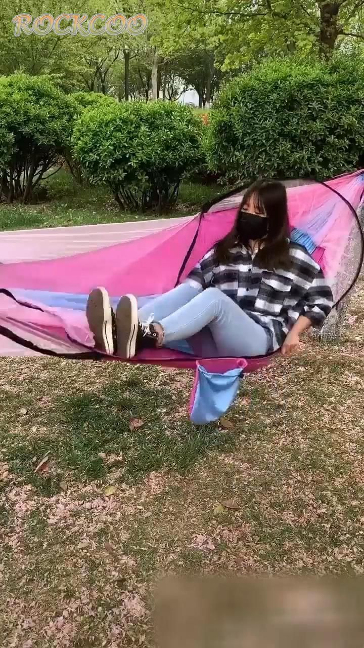 Outdoor Camping Hammock Portable Hanging Bed With Mosquito Net Sleep Swing Bed Camping Hammock Ha Hammock Camping Best Camping Hammock Camping Hammock Ideas