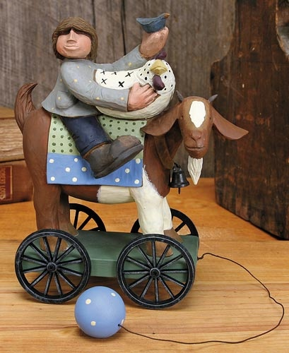 Boy on Goat Pull Toy – Everyday Folk Art Figurines & Collectibles – Williraye Studio $20.00: Goats Pull, Visit Willirayestudio Com, Folk Art, Art Figurines, Visit Willirayestudiocom, Goats Stuff, Williray Studios, Everyday Folk, Goats Farms