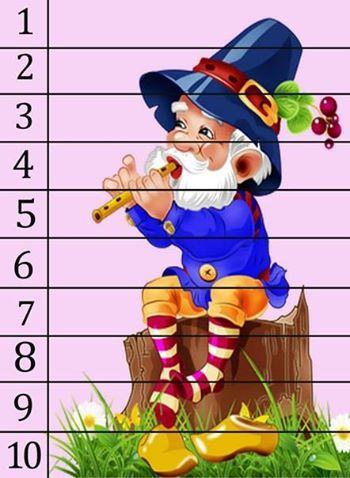 Изучаем цифры - арифметика в пазлах 1