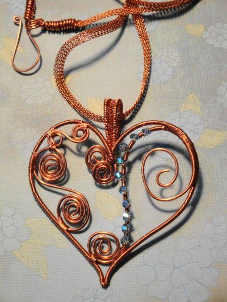 cpr pndt woven heart on silversilk