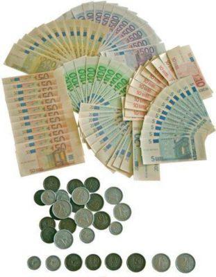 EDUPLAY 120-072 Spielgeld Euro Scheine und Münzen, mehrfarbig, 114-teilig (1 Set) - Plus.de Online Shop