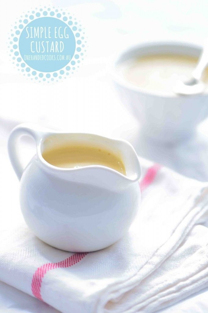 SIMPLE EGG CUSTARD: Super easy. Super delicious. Make your own custard for a nutritious dessert or snack and mix through mashed banana or pureed fruit instead of sugar for babies and toddlers. #onehandedcooks
