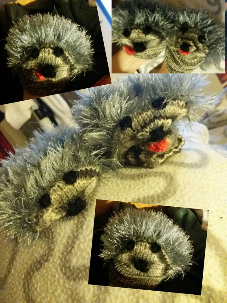 Kids Hedgehog mittens