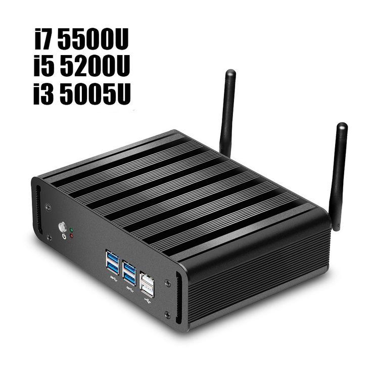 Newest Mini Pc i5 5200U i7 5500U 2.2GHz Core Dua Core Slim Nano Barebone Computer i3 5005U No Ram No SSD windows10 4*USB3.0+Vga