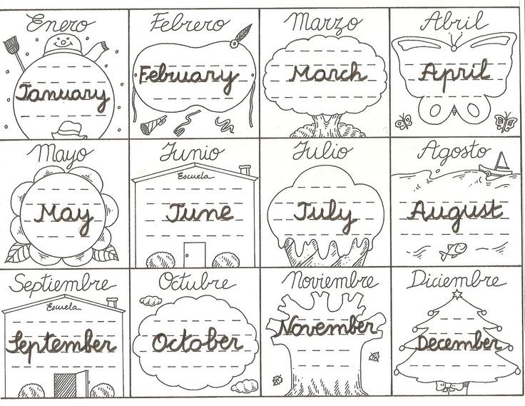 Activipeques: Meses del año en inglés