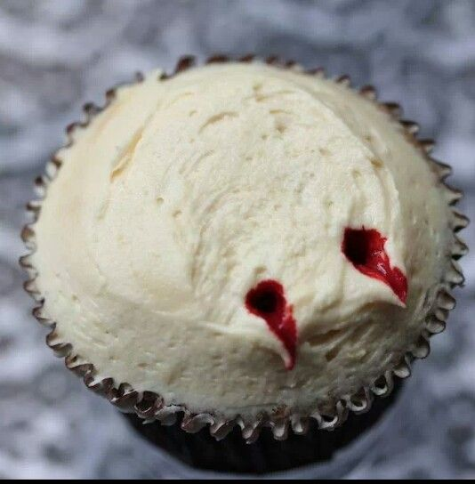 Vampire bite cupcakes! #Halloweenparty