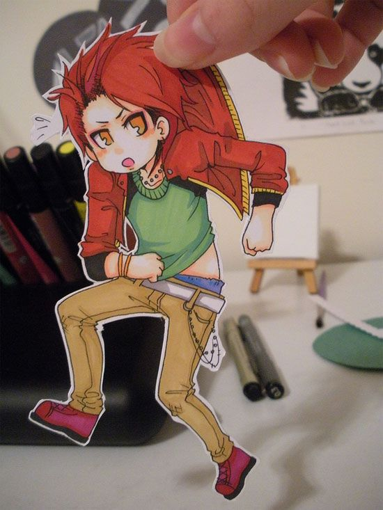 Cute and Clever Anime Paper Child Art