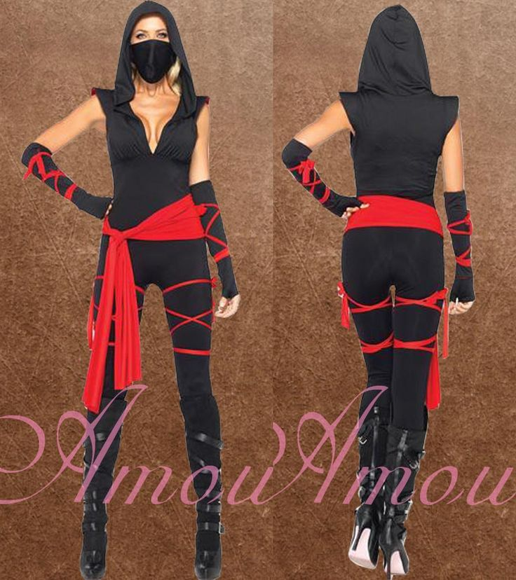 adult woman halloween mark up fancy party deadly ninja warrior costume fe1689 - Ebaycom Halloween Costumes