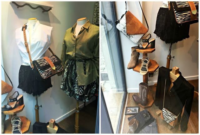 New window display :: Maison Margiela, Hudson jeans, Alexander Wang, Sartore, Heimstone, MM6, KENZO, Black Orchid, IRO, RED Valentino, Marc by Marc Jacobs :: Boutique Place des Lices, La Rochelle France