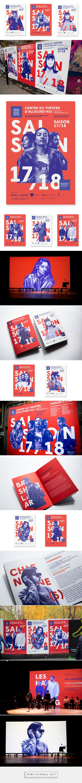 SAISON 2017/2018 DU CENTRE DU THÉÂTRE D'AUJOURD'HUI Communication Arts - Poster Design Awards 2017 designed by. Gauthier Designers