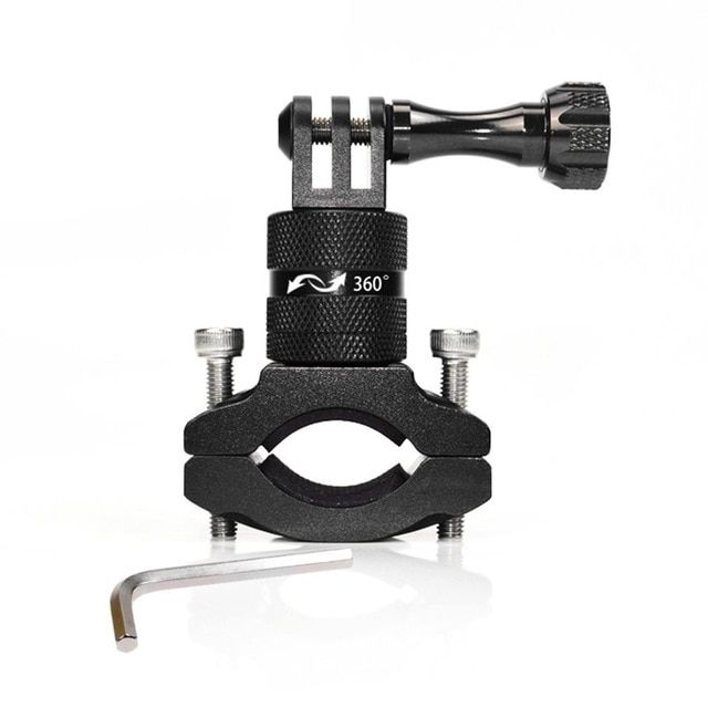 Sport Action Camera Holder Bike Bicycle Handlebar Mount For Gopro Hero 5 6 360 Degree Rotation Photo Go Pro Cycling Accessories Review Bicicletas