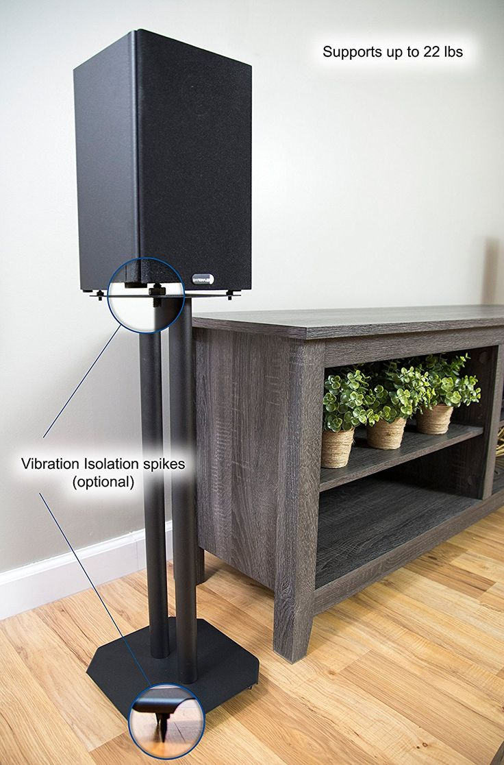 Amazon.com: VIVO Premium Universal Floor Speaker Stands for Surround Sound & Book Shelf Speakers (STAND-SP03B): Kitchen & Dining