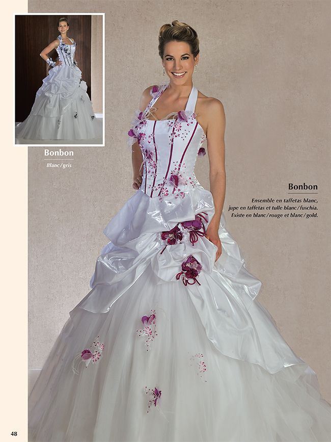 Robe De Mariee Fushia, Robes de mariée fuschia