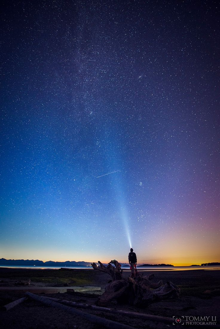 Color of nightscape - Rathtrevor Beach in Parksville, Vancouver Island