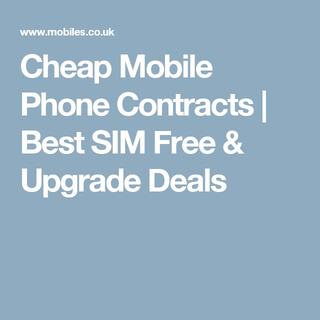 Deals phone contracts