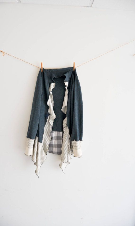 Eco Fashion Softest Wool Flannel Thermal wrap by WiseSewcialTies, $120.00