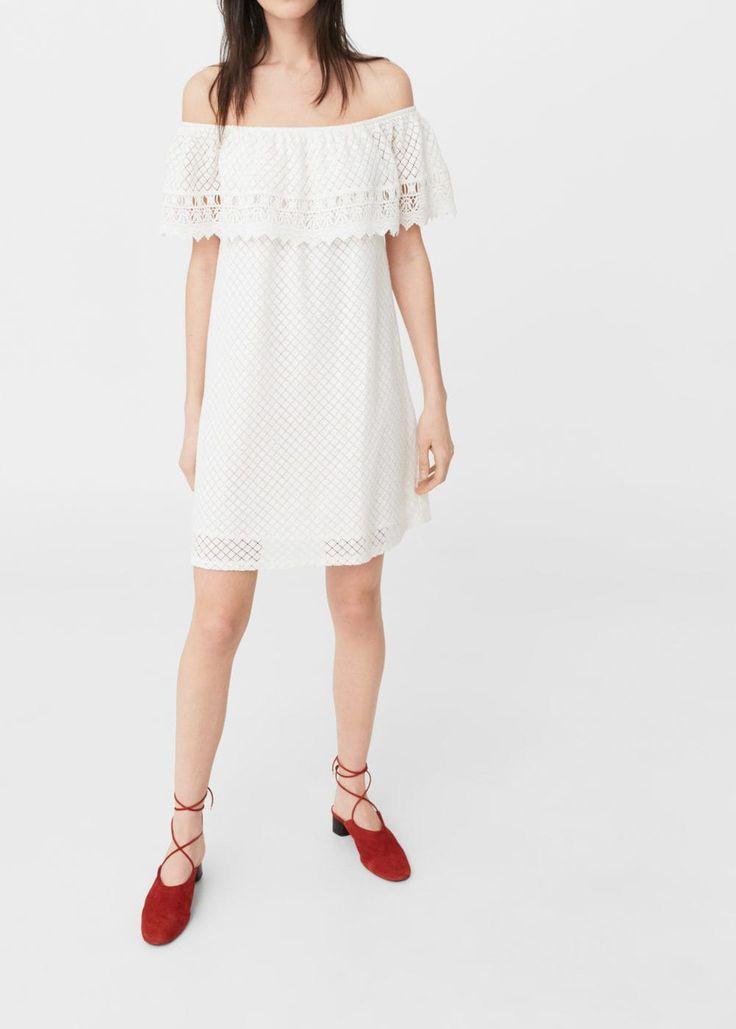 Vestido guipur algodón - Vestidos de Mujer | MANGO México