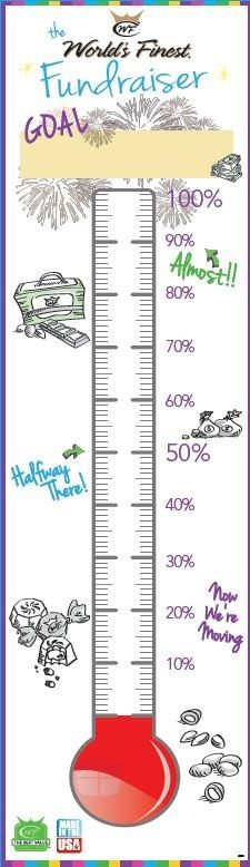 Fundraising $$ thermometer #WFC #fundraising