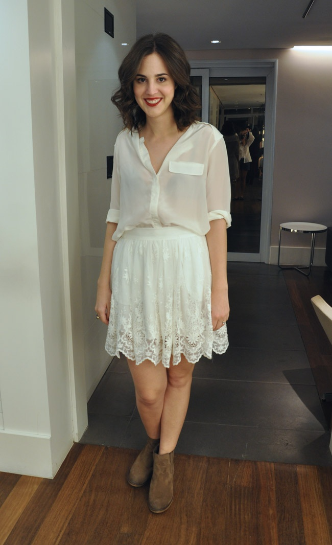 Look da Vic: Saia e blusa Zara