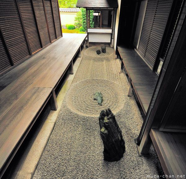 Totekiko, the smallest Japanese Zen rock garden