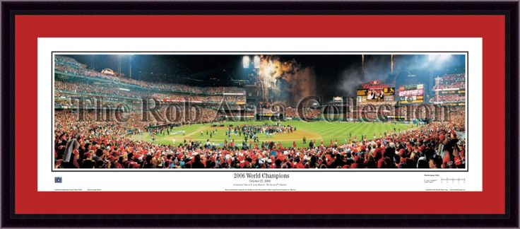St. Louis Cardinals 2006 World Series Champions Framed and Matted Stadium Panorama