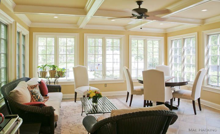 Wendy 39 s light filled combination sunroom and dining room dining rooms pinterest shelves - Sunroom dining room ...