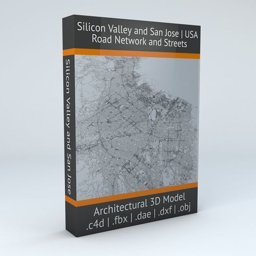 Silicon Valley and San Jose Road Network and Streets | 3D Model