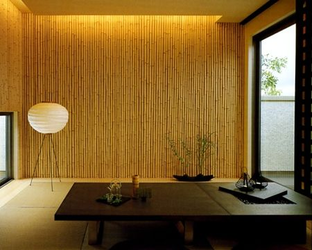 japanese modern, wall, tatami, light, low table